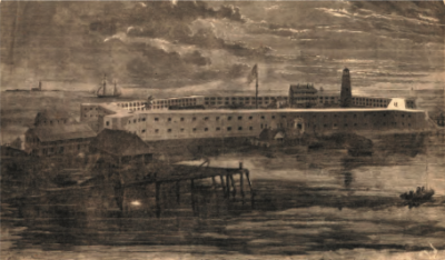 Fort Jefferson in 1861. Photo credit: Harpers Weekly of February 23,1861.