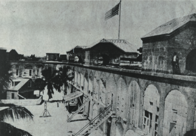 The Interior of Fort Jefferson during the Civil War. Photo credit: National Archives.