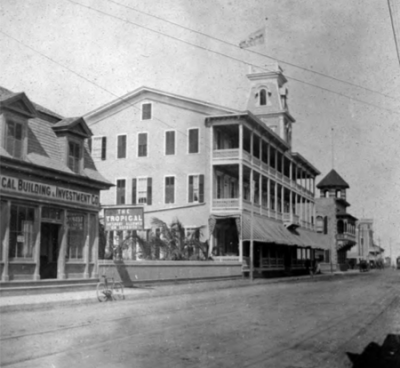 The Jefferson Hotel in the 100 block of Duval Street. Photo credit: Monroe County Library.