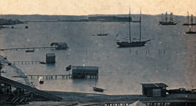 Fort Taylor and Key West Harbor during the Civil War. Photo credit: Monroe County Library.