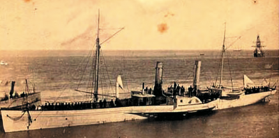 A ship captured running the blockade in Key West during the Civil War. Photo credit: Monroe County Library.